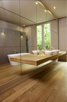 Find the best modern bathroom ideas, bathroom remodel design & inspiration to match your style. Browse through images of bathroom decor & colours to create your perfect home decor. Bathroom Interior, Modern Bathroom, Small Bathroom, Bathroom Mirrors, Minimalist Bathroom, Contemporary Bathrooms, Wood Bathroom, Bathroom Furniture, Bathroom Storage