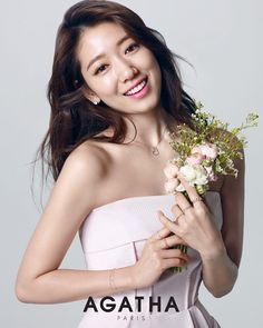 Park Shin Hye flaunts her million dollar smile for 'Agatha Paris' | allkpop.com