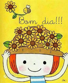 Bom dia Bee Painting, Painting & Drawing, Happy Flowers, Kid Character, Good Morning Good Night, Heart For Kids, Love Is Sweet, Hello Kitty, Whimsical