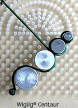 Step 7 to instructions for making Wire Circles Beaded Earrings using WigJig jewelry tools to shape jewelry wire.