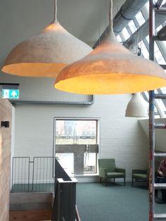 Lampen voor restaurant Pollevie – VanVilt | ambachtelijk vilt