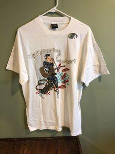 6e8a52a5747 Vintage Diamond Dust Elvis Presley Shirt Mens Large USA NEW #fashion  #entertainment #memorabilia