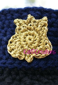 Crochet Police Badge Applique