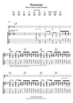 Noel Gallagher's High Flying Birds: Riverman - Partition Tablature Guitare - Plus de 70.000 partitions à imprimer !