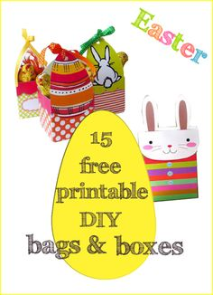 Free printable easter bunny gift box for treats these are so 15 free printable easter diy bags and boxes kostenlos ausdruckbare ostervorlagen negle