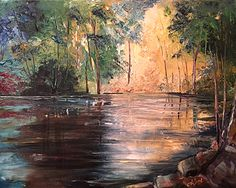 Morning On The Pond II by Kathy Fox Weinberg Oil ~ 16 x 20
