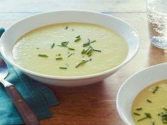 Leek Potato Soup recipe from Alton Brown via Food Network