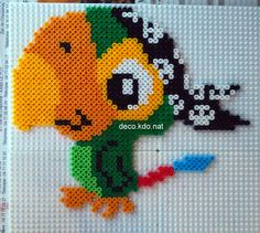 Skully - Jake and the Never Land Pirates hama perler beads by deco.kdo. nat - Pattern: http://www.pinterest.com/pin/374291419004502574/