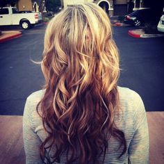 My hair in Reverse Ombre