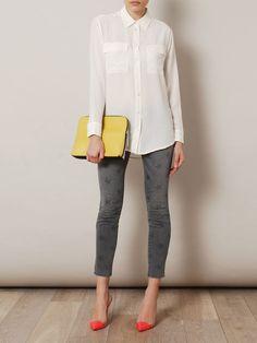 Grey star-print skinny jeans