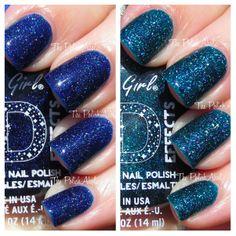 la girl nail polish | The PolishAholic: LA Girl 3D Effects: Brilliant Blue & Teal Dimension