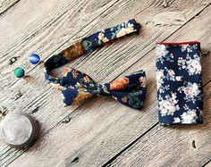 Floral Bow Tie Men Bow Tie Mens Bow Tie Rustic Bow Tie