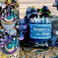 Daughter of the Night Candle Hekate candle Moon Goddess Candle Celestial candle Moon Magick Dark Magick witchcraft Witch Spell Candle Magic, Candle Spells, Dark Moon, Moon Moon, Full Moon, Moon Art, Witch Spell, Moon Goddess, Diy Candles