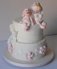 Christening cake - cake by lamps