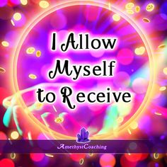 Today's Affirmation: I Allow Myself To Receive <3 #affirmation #coaching