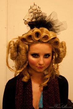 Her hair is the sea!   Clearly, this is a fashion show I could enjoy.