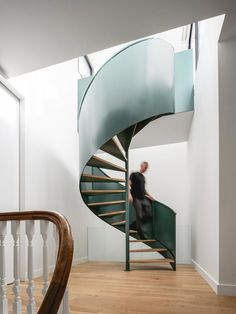 La Doyenne | naturehumaine [architecture+design] Architecture Design, Building Extension, Spiral Staircase, Staircases, Modern Staircase, Steel Panels, House Built, Built Environment, Victorian Homes