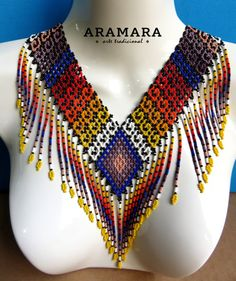Seed Bead Jewelry, Body Jewelry, Seed Beads, Beaded Jewelry, Beaded Necklace, Tribal Necklace, Collar Necklace, Loom Beading, Beading Patterns