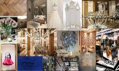Board d'ambiance pour le nouveau concept de la maison Guerlain : la création d'une nouvelle gamme de couture : L'Instant Couture.