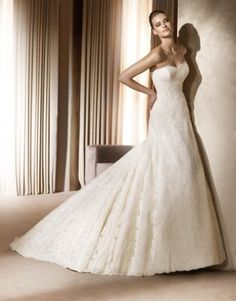 Pronovias Albina.  Very pretty, but I'm not sure the lacework looks as complicated or as nice as on the other Pronovias dresses.