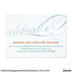 Celebrate Engagment Party Invitations