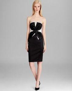 KAREN MILLEN Satin Dress - Beautiful Colorful Couture
