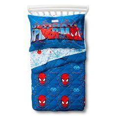 Marvel's Ultimate Spider-Man 4 Piece Toddler Bed Set - Blue
