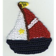 Crochet Sailboat applique