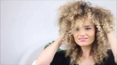 How to make straight hair into Afro hair tutorial