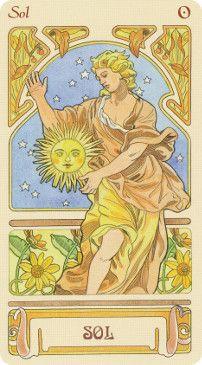 Mucha Art Nouveau, Alphonse Mucha Art, Wm Logo, The Sun Tarot Card, Culture Art, Inspiration Art, Sun Art, Oracle Cards, Tarot Decks