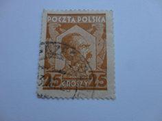 25 Groszy Old Polska Postal Stamp