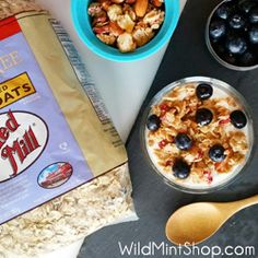 Lightly sweetened Tropical Granola with Strawberries and Pineapple from Wild Mint Shop