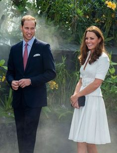 Prince William: I want an heir and a spare:The couple visited the Gardens by the Bay conservation centre.