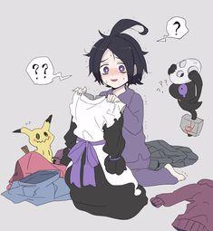 Ghost Type Pokemon, Pokemon Fan Art, All Pokemon, Cute Pokemon, Pokemon Comics, Pokemon Memes, Fantasma Danny, Pokemon Adventures Manga, Pokemon Stories
