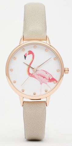 New Look Flamingo Watch at ASOS. Flamingo Gifts, Flamingo Decor, Pink Flamingos, Flamingo Bird, Cute Jewelry, Women Jewelry, Jewelry Accessories, New Look Gifts, Asos