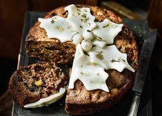 With chunks of marzipan and apricots, this is the lighter alternative to Christmas cake