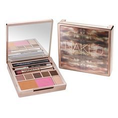 Urban Decay 'Naked on the Run' Palette (Limited Edition) ($40) ❤ liked on Polyvore featuring beauty products, makeup, urban decay, palette makeup, travel kit, pencil eyeliner and urban decay makeup