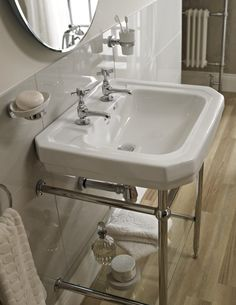Savoy Victorian basin and stand - £349 http://www.bathstore.com/products/victorian-610-basin-with-stand-2-tap-holes-2094.html
