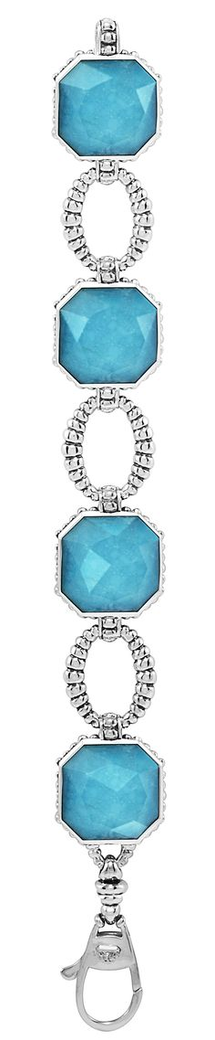 Bright turquoise doublet link bracelet. LAGOS Jewelry | Color Rocks. Available at Hingham Jewelers!