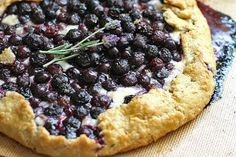 Blueberry Brie Galette - I couldn't decide whether to pin this in the appetizer or dessert category - looks delish for either!