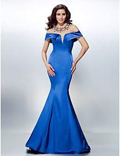 Formal Evening Dress Trumpet Mermaid Off-the-shoulder Sweep . fd28f89a5934