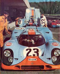 Poster affiche print Gulf PORSCHE 917 1000 Km de SPA Siffert Redman