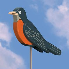 Big 3-D Robin DIY Woodcraft Pattern #1964 - Use scrap pieces of wood to create…