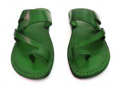 84157ef48 New Leather Sandals JERICHO Women s Shoes Thongs Flip Flops Flats Slides  Slippers Biblical Bridal Wedding Colored Footwear Designer by Sandalimshop  on Etsy