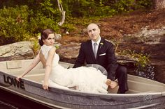 ENGAGEMENT portrait down at esker park- borrown boat from someone lol.
