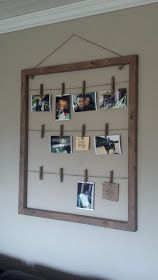 The Antique Craftsman Blog: Clothes Pin Photo Hanger