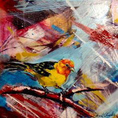Brent Clowater - mixed media painting