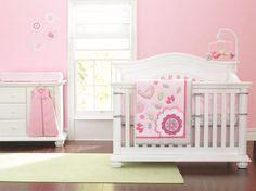 7 шт. аппликация 3D розовый птичка цветок младенцы футляр детская кроватка постельные принадлежности комплект для девочка одеяло / одеяло простыня с резинками бамперы юбка купить на AliExpress