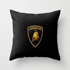 20 Lamborghini black Throw Pillow