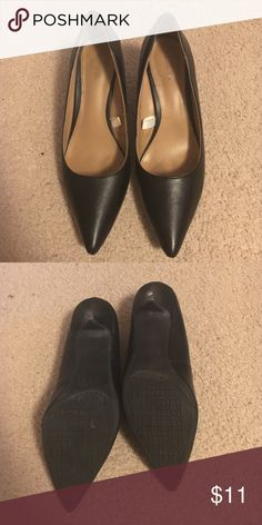 Black heels Barely worn black heels Merona Shoes Heels